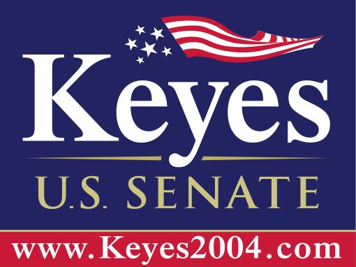 Alan Keyes 2004 sign