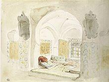 alcve mauresque croquis 1832 eugne delacroix - Lits Alcove