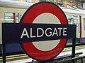 Aldgate station roundel.JPG