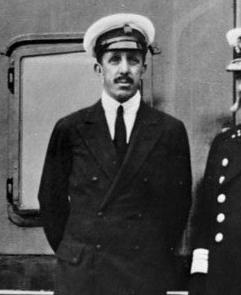 Alfonso XIII on boat
