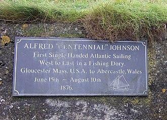 Abercastle - Alfred Johnson plaque
