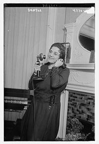Alice Gentle in 1918 on the telephone.jpg