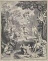 Allegorische voorstelling ter gelegenheid van het huwelijk van Abraham Barnaart en Engeltje van Hoven, RP-P-OB-51.552.jpg