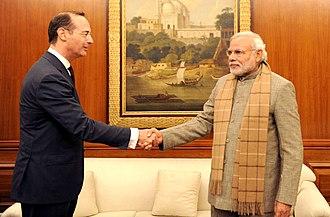 Oliver Bäte - Allianz CEO Oliver Bäte meets Indian Prime Minister Narendra Modi