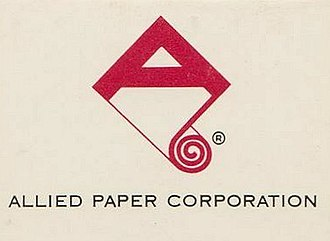 Allied Paper Corporation - 1960s era Allied Paper Corporation logo