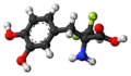 Alpha-Difluoromethyl-DOPA molecule ball.png