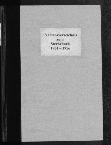 File:Alphabetisches Namensverzeichnis zum Sterberegister des Standesamtes Minden, 1951 bis 1956.djvu