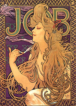 Alphonse Mucha - Job Cigarettes 1