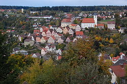 Skyline of Altensteig