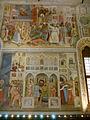 Altichiero, oratorio di san giorgio, pareste sinistra, Santa Caterina d'Alessandria sottoposta al tormento della ruota e Martirio di Santa Lucia.JPG