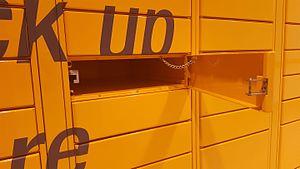 Amazon Locker - An Amazon Locker with the door open
