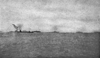 SS Antilles (1907) - With America's first convoy. The troop ships are the Henderson, Antilles, Momus and Lenape.