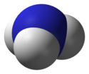 Space-fillin model o the ammonia molecule
