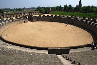 Xanten - Reconstructed Roman amphitheatre in Archäologischer Park Xanten