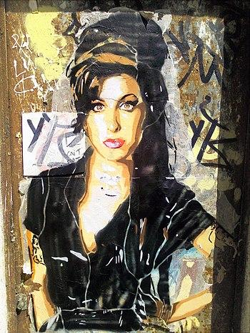 Graffiti of Amy Winehouse, Barcelona, 2011