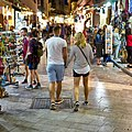 An evening on Adrianou Street (corner with Navarchou Nikodimou Street) in Plaka.jpg