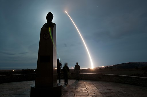 An unarmed U.S. Air Force LGM-30G Minuteman III intercontinental ballistic missile launches during an operational test at Vandenberg Air Force Base, Calif., Dec. 17, 2013 131217-F-MO145-001