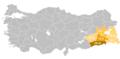 Anatolian Arabic in Turkey.png