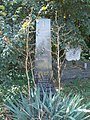 Andor Czibur †1972 grave obelisk, 2020 Albertirsa.jpg