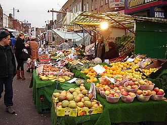 Chapel Market - Looking east on a Saturday afternoon in November 2005