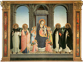 painting by Fra Angelico and Lorenzo di Credi