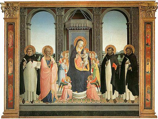 Angelico, pala di fiesole, full
