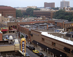 History of Ann Arbor, Michigan - Image: Ann Arbor at Liberty Street