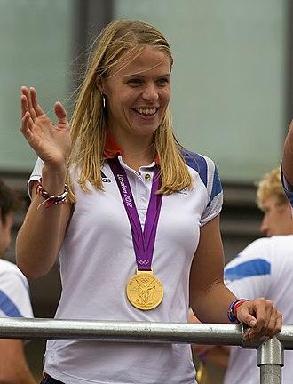 Women's Boat Race 2011 - Anna Watkins (pictured in 2012) presented the winners' shield.