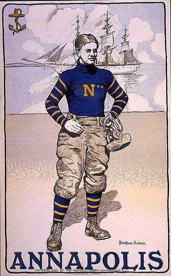 English: Annapolis football player, United Sta...