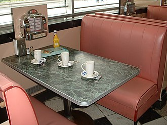 Disney Village - Annette's Diner, named in honour of Mickey Mouse Club regular Annette Funicello, respects the 1950s look.