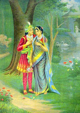 Tilottama - Aniruddha with Usha, the rebirth of Tilottama