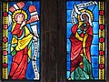 Annunciation in Stained Glass, Germany, 1290-1300, The Cloisters 1 16 09 -angelgabriel -virginmary (3220487429).jpg