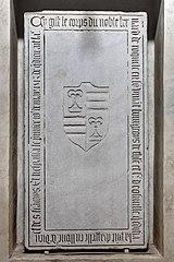 Dalle funéraire et épitaphe de Bernard de de Roquette