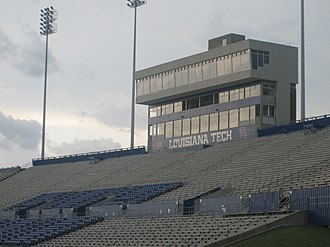 Joe Aillet Stadium - Joe Aillet Stadium home stands and press box
