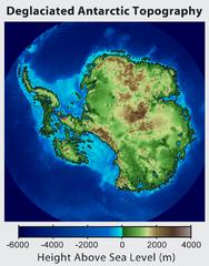 Topographische Karte ohne Eis