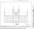 Antioch College, Main Hall, Livermore Street and North College Avenue, Yellow Springs, Greene County, OH HABS OHIO,29-YEL,1A- (sheet 2 of 5).png