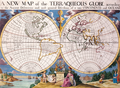 Antique World Map of Continents and Oceans 1700.png