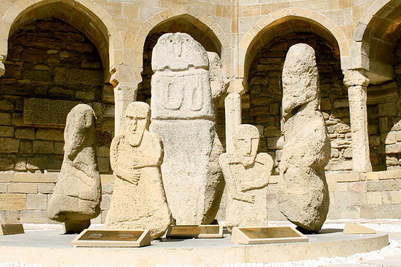 File:Antique era Caucasian Albanian stone idols in Ichery sheher.JPG