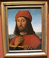 Antonello de saliba (attr.), ritratto d'uomo con berretto rosso e libro.JPG