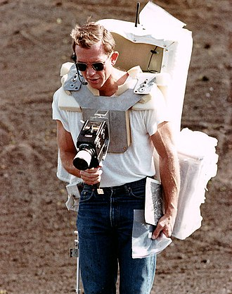 Apollo 15 - Commander David Scott takes a photograph during geology training in Hawaii, December 1970