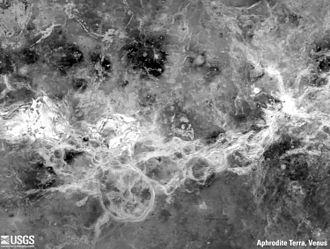 Mapping of Venus - Aphrodite Terra, a complex terrain