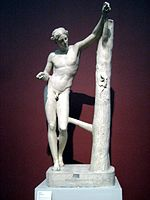 Apollo Sauroktonos (casting in Pushkin museum) 01 by shakko.jpg