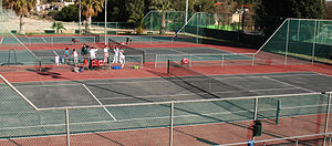Tennis courts in Arad, Israel