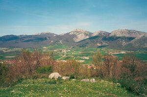 Basque Mountains - Aratz from Alava (Llanada Alavesa).