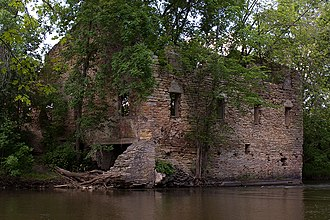 Dundas, Minnesota - The historic Archibald Mill on the Cannon River in Dundas, June 2008.