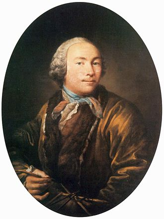 Ivan Argunov - Self-portrait (late 1750s)
