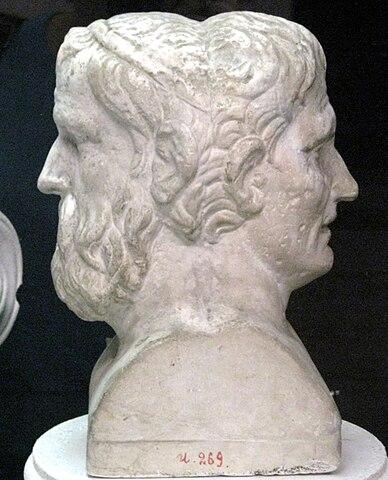 Двойная герма: Аристофан и Менандр