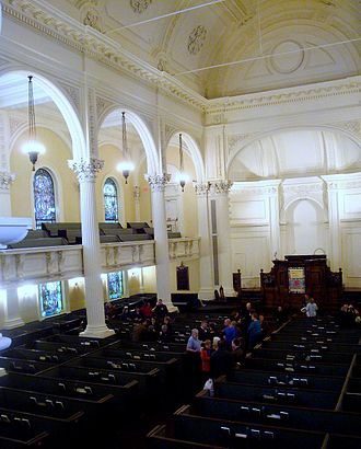 Arlington Street Church - Church sanctuary interior