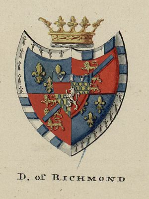 Duke of Richmond - Coat of arms from A tour in Wales by Thomas Pennant; c. 1773 - 1776