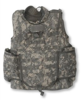Bulletproof vest Form of body armor that protects the torso from some projectiles